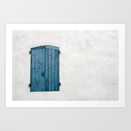 Old blue store Art Print