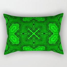 Victorian Art Deco Medieval Pattern bright green SB26/4 Rectangular Pillow