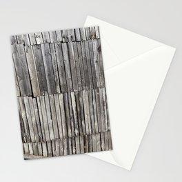 damaged old pine shed Stationery Cards