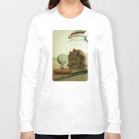 tim shumate Long Sleeve T-shirts featuring Brie Boy - Tim Burton by PaperTigress