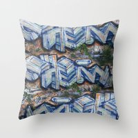 chemistry Throw Pillows featuring organic chemistry. by kemistree