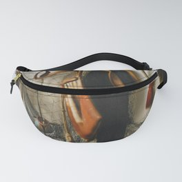 Christoffel Pierson - A Trompe l'Oeil of Hawking Equipment, including a Glove, a Net and Falconry Ho Fanny Pack
