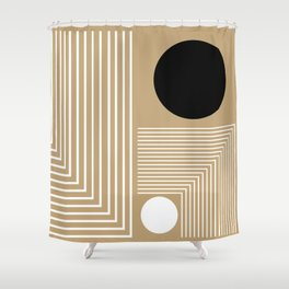 Lines & Circles Shower Curtain