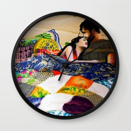 Vibrant love  Wall Clock
