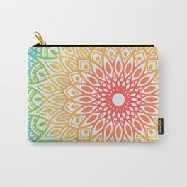 Rainbow Colored Mandala Carry-All Pouch