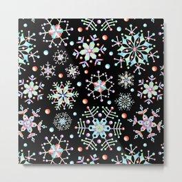 Prismatic Snowflakes Metal Print