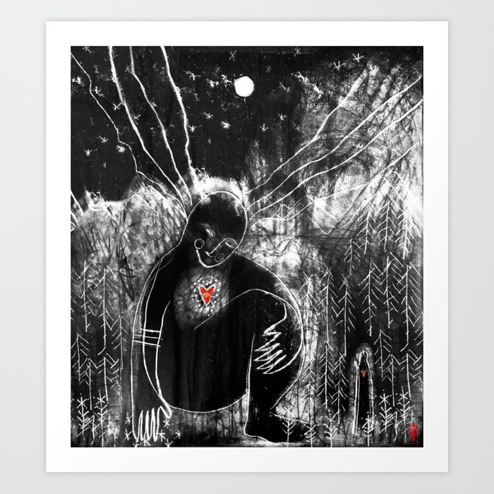 Dreaming in the Forest Art Print