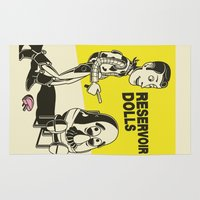reservoir dogs Area & Throw Rugs featuring reservoir dolls  by tshirtsz
