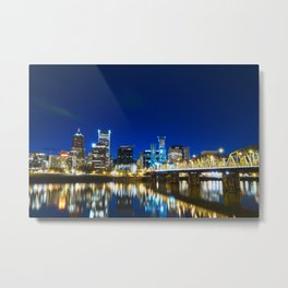 Portland Nights Metal Print