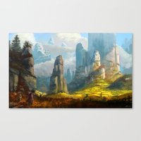 spires Canvas Prints featuring Iaotia Spires by Stephen Garrett Rusk