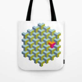 Be yourself - geomtric op art pattern Tote Bag