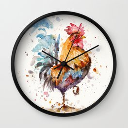 Rooster's About Wall Clock