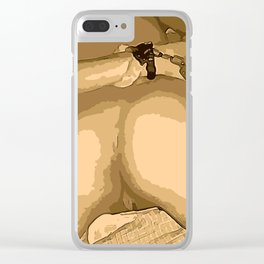 NSFW! Adult content! Let's play bondage games in poster, cartoon style, naked butt and pussy v2 Clear iPhone Case