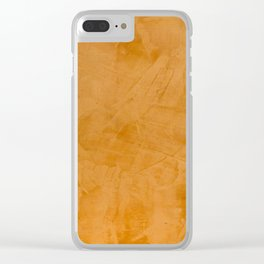 Tuscan Orange Stucco Clear iPhone Case