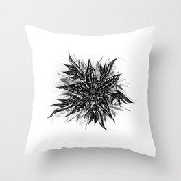 GR1N-FL0W3R (Grin Flower) Throw Pillow