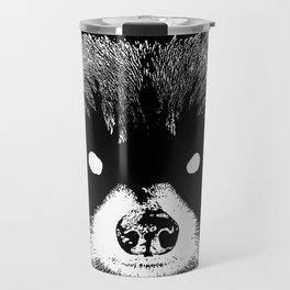 Black Metal Raccoon Travel Mug