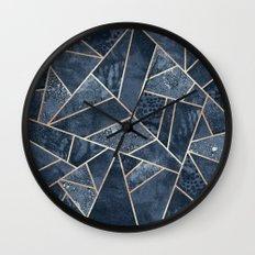 Soft Dark Blue Stone Wall Clock