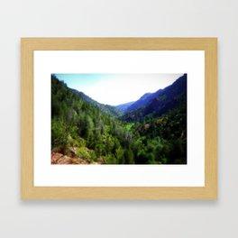 View from the Bridge Framed Art Print