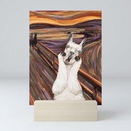 Llama The Scream Mini Art Print
