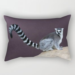Thereby Hangs A Tail - Ring-Tailed Lemur Rectangular Pillow