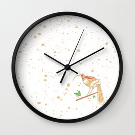 New Zealand Native Birds -  Huia Wall Clock