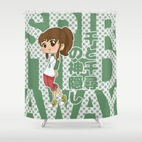 ghibli Shower Curtains featuring Grown-Up Ghibli - Chihiro by monobuu