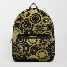 Circles Galore in Gold Backpack