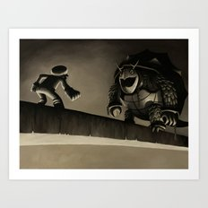 TURTLE KING BRIDGE Art Print