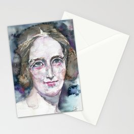 MARY SHELLEY - watercolor portrait Stationery Cards
