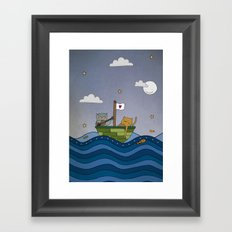 The Owl and the Pussycat Framed Art Print