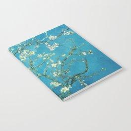 Vincent van Gogh Blossoming Almond Tree (Almond Blossoms) Light Blue Notebook