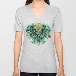 Elephant Ghost Unisex V-Neck