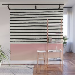 Blush x Stripes Wall Mural