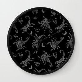 B&W Scorpio Moon Wall Clock
