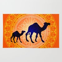 camel Area & Throw Rugs featuring Camel by Katherine Marshall