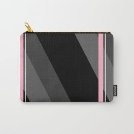 Thin And Thick Lines - Pink Carry-All Pouch