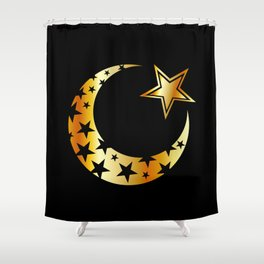 The Islamic star Shower Curtain