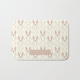 Boston Terrier Wood Pattern Bath Mat