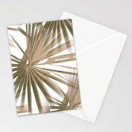 Brown on White Tropical Vibes Beach Palmtree Vector Stationery Cards