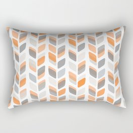 Modern Rectangle Print with Retro Abstract Leaf Pattern Rectangular Pillow