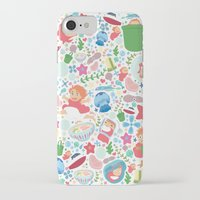 studio ghibli iPhone & iPod Cases featuring Ponyo Pattern - Studio Ghibli by Teacuppiranha