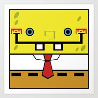 spongebob Art Prints featuring SpongeBob by nu boniglio