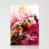 jesse pinkman Stationery Cards featuring Breaking Bad - Jesse Pinkman by p1xer
