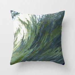 Big Pacific Ocean Wave Throw Pillow