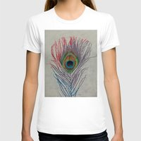 peacock feather T-shirts featuring Peacock Feather by Michael Creese