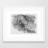 shoe Framed Art Prints featuring Shoe by Cassandra Adsett