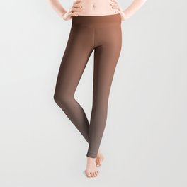Warm Earthy Ombre Gradient Inspired By Cavern Clay Sw 7701 to Slate Violet SW 9155 Leggings