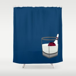 Hey, careful, man, there's a beverage here!  Shower Curtain
