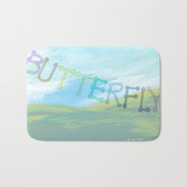 """ Butterfly In The Clearing "" Bath Mat"
