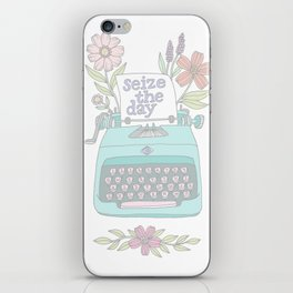 Seize The Day Typewriter Pastels iPhone Skin
